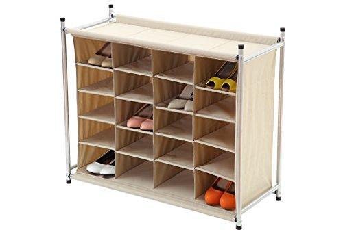 storagemaniac stackable 20 compartment shoe cubby  20