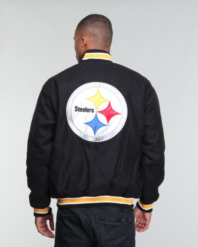 timeless design 49c6f a9fd9 Buy the Pittsburgh Steelers NFL Apparel Men's Varsity Jacket ...