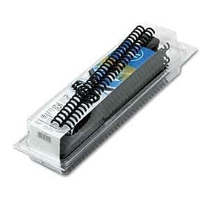 GBC ProClick Spines, 0.5 Inch, 85-Sheet Capacity, Black, 25 per Box (2515660)