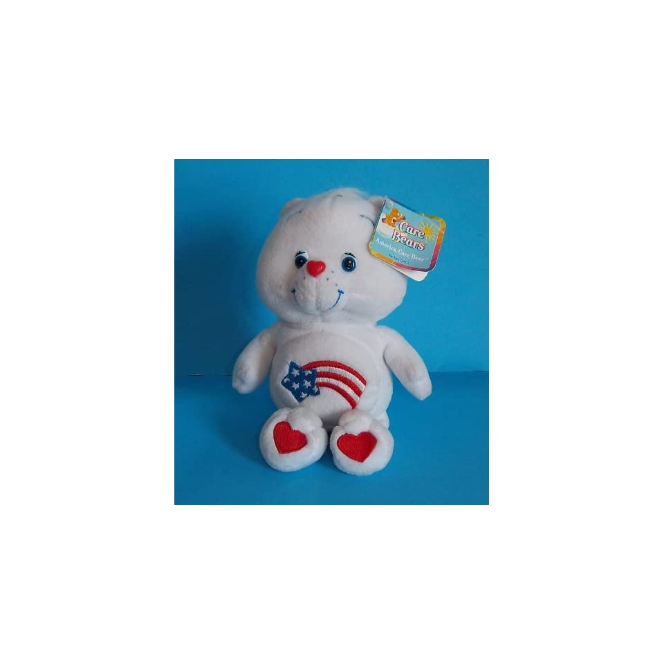 Care Bears AMERICA CARES Bear 8 Plush (NEW WITH TAGS)