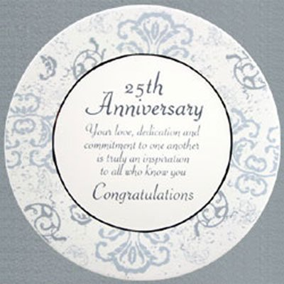25th Silver Anniversary Commemorative Plate