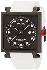 red line Men's RL-50035-BB-01-WA-WHT Compressor 2 Black Dial White Silicone Watch