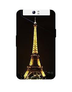 Mobifry Back case cover for Oppo N1 Mobile ( Printed design)