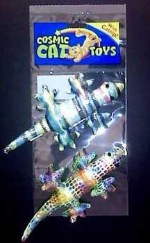 (Price/1)Silky Rainbow Gecko Catnip Toy 2pk