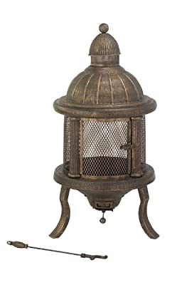 Merlot Domed Fire Pit -steel Domed Firepit With Easy Access Door Removable Ash Tray Includes Poker