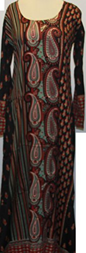 BOMBAYFASHIONS Long Printed Kaftan Ab…