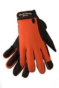 West County 014BRM Women's Work Glove, Brick, Large