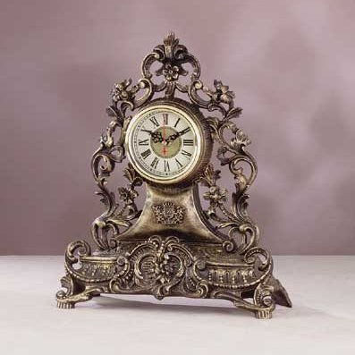 Antique furniture italian antique style reproduction mantel clock by hg - Antique clock designs for your home ...