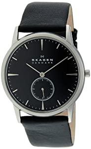 Skagen Men's 958XLSLB Skagen Denmark Steel Matte Case & Black Dial Watch