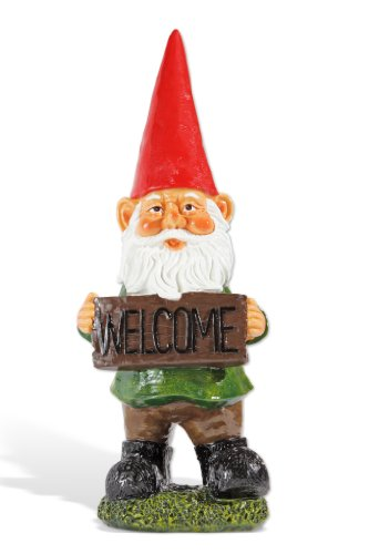Exhart 22-Inch Gnome with Welcome Sign