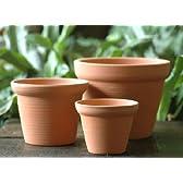 素焼きの植木鉢(帽子)3個セット