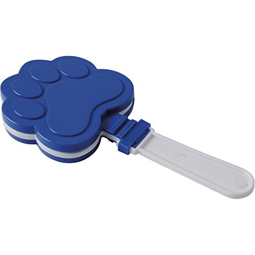 One Blue And White Paw Print Theme Hand Clapper Noisemaker