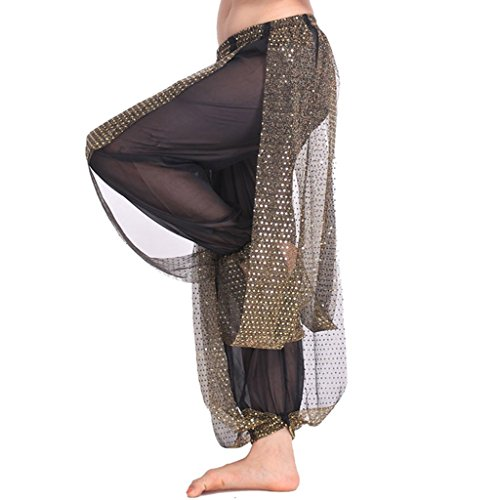 Pilot-trade Women's Belly Dance Costume Shinny Bloomers trousers & Harem Pants Black (Sequin Harem Pants compare prices)