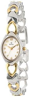 Bulova Womens 98V02 White Patterned Bracelet Watch