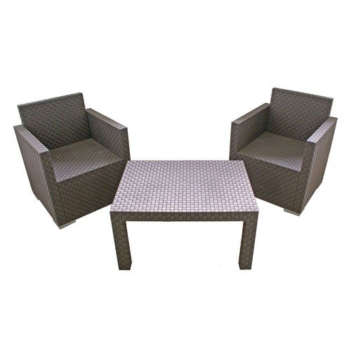 Lounge Gartenmöbel Set klein Polyrattan-Optik