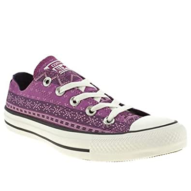 Converse All Star Ox Vi Wilderness - 4 Uk - Purple - Fabric