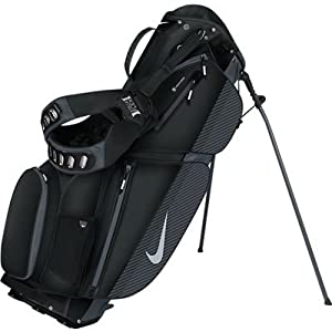 Nike Air Sport Stand Golf Bag, Black/Silver/Dark Grey