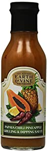 Earth & Vine Provisions Papaya Chili Pineapple Grilling Sauce and Dressing, 12 Ounce