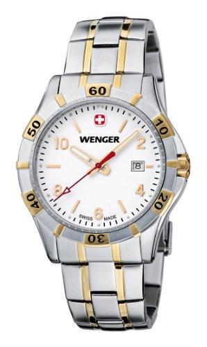 Wenger Men's Quartz Watch Platoon 01.9411.105 with Metal Strap
