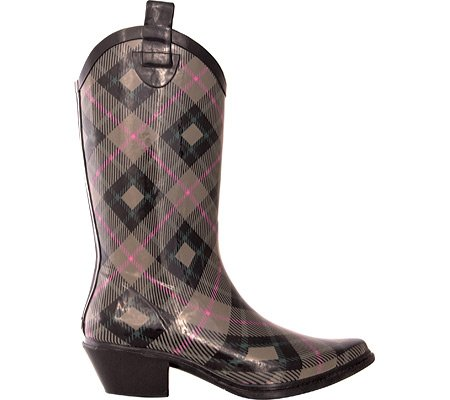 dav Women's Western Cowboy Plaid Boot,Khaki,10 M US