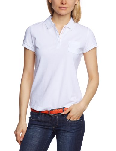 MUSTANG - Polo Con bottoni, Donna, Bianco (Weiß (white 200)), XL