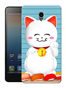 "Cute Kid Kitty Cat Printed Designer Mobile Back Cover For ""Lenovo S860"" By Humor Gang (3D, Matte Finish, Premium Quality, Protective Snap On Slim Hard Phone Case, Multi Color)"