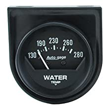 "Auto Meter 2361 Auto Gage 2-1/16"" Mechanical Individual Panel Water Temperature Gauge"