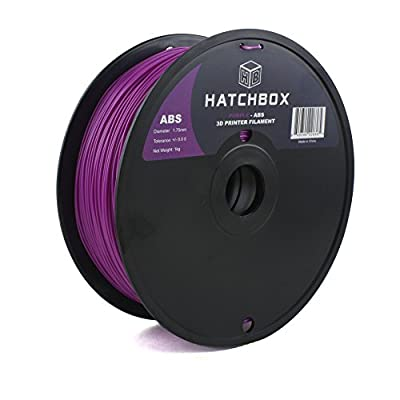 HATCHBOX 1.75mm Purple ABS 3D Printer Filament - 1kg Spool (2.2 lbs) - Dimensional Accuracy +/- 0.05mm