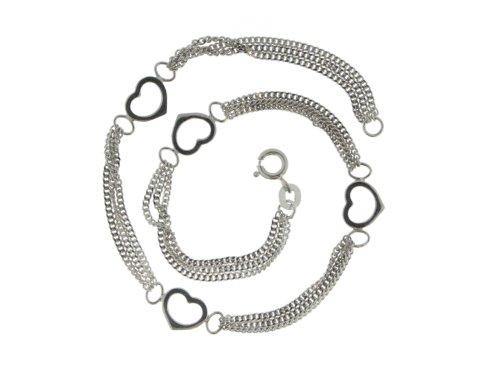 ZEEme Women's Anklet Chain 925 Sterling Silver 25cm 296200005R