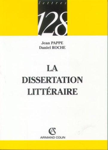 dissertation littraire