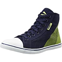 Puma Unisex Pumastreetballer Mid Geo Idp Peacoat and Sharp Green Sneakers - 8 UK/India (42 EU)