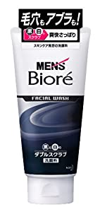 Men's Biore Facial Wash Double Scrub 130g