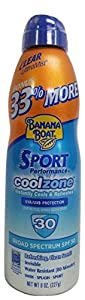 Banana Boat Sport Performance CoolZone Continuous Spray UltraMist Sunscreen, SPF 30, 8 Ounce