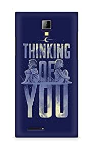 Amez designer printed 3d premium high quality back case cover for Micromax Canvas Express A99 (Thinking Of You Valentines)