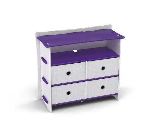 Legare Kids 36″ Dresser Purple & Whtie (DRUM-122)