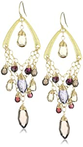 Urban Posh Smoky Quartz, Citrine, Iolite and Garnet Josie Earrings