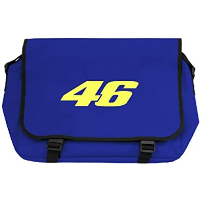 Racing 46 Messenger Bag - Royal Blue with Fluorescent Yellow Print