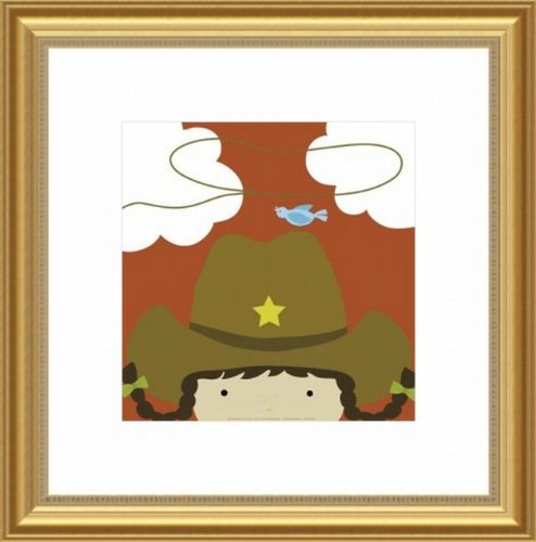 Barewalls Wall Decor by Yuko Lau, Peek A Boo Cowgirl