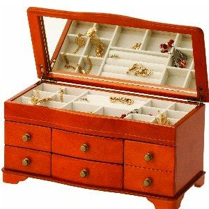 Mele Jewellery Box With Drawers. Large
