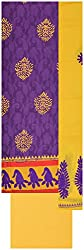 Laxmi Creations Women's Cotton Unstitched Dress Material (Purple)
