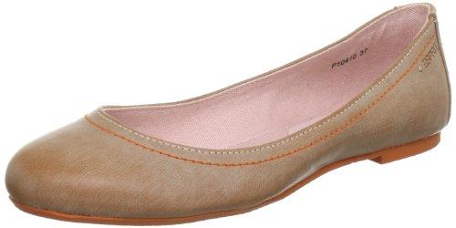 ESPRIT Rina Ballerina Ballet Flats Women Beige Beige (salmone 682) Size: 5 (38 EU)
