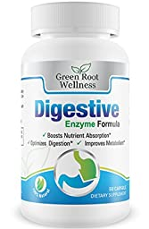 Digestive Enzyme Supplement - Supports Food Digestion, Pancreatic Functions & Reduces Bloating - Supports Digestion of Fats, Carbohydrates, Proteins and More - Made in USA - 50 Capsule Count