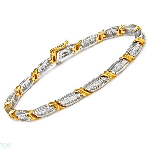 Bracelet With 2.00ctw Genuine Diamonds Beautifully