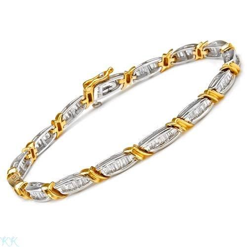 Bracelet With 2.00ctw Genuine Diamonds Beautifully