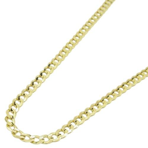 "14K Yellow Gold Cuban Link Chain 18"" Long 3Mm Wide Mlc2"