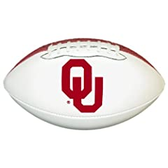 Buy Oklahoma Sooners Official Size Synthetic Leather Autograph Football by Game Master