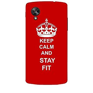 Skin4gadgets Keep Calm and STAY FIT - Colour - Red Phone Skin for LG NEXUS 5