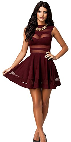 Burgundy women's party dresses,Burgundy,Small