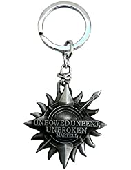 Techpro Premium Quality Metal Keychain With Game Of Thrones Unbowed , Unbent, Unbroken Design