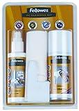 Fellowes Kit di pulizia per PC, spray 125ml, schiuma 150ml, panni assorbenti e bastoncini di pulizia